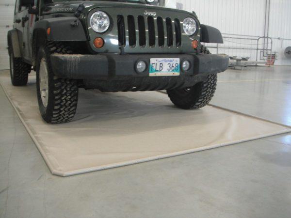 Beige Garage Mat