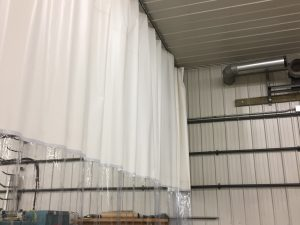 Industrial Curtains White with ViewFlex