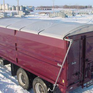 Grain truck roll tarp system