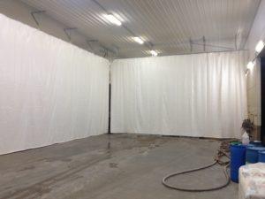 white shop curtains