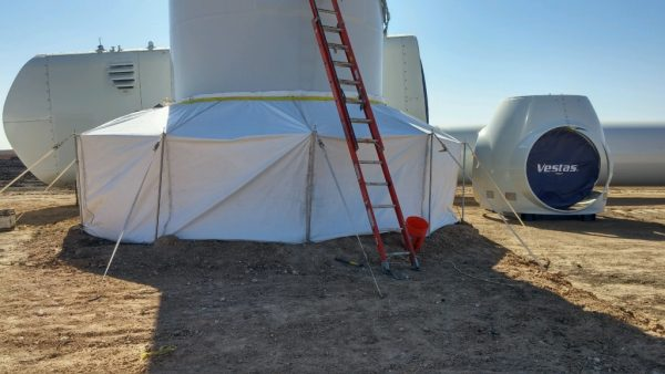 Vestas Wind Turbine Grout Tent